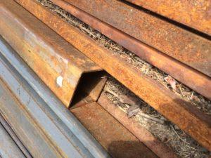 Corroded steel